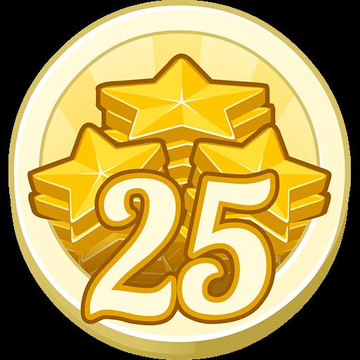 25 Gold Stars